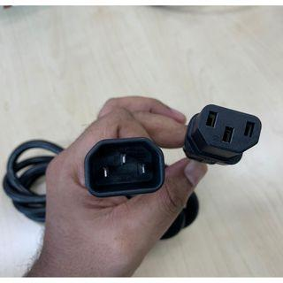 C14 Male to C13 Female Power Cable