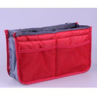 Bag Insert Travel Red Handbag Organiser with Handles