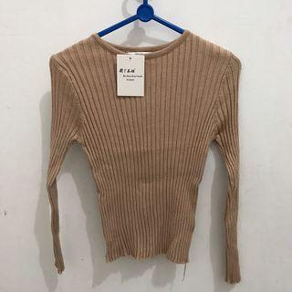 [NEW] Knitted Imported Korean Top Long Sleeve