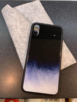 iPhone XS 星月銀河玻璃手機殼