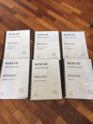 IGCSE Topical Biology Past Paper Barely Used
