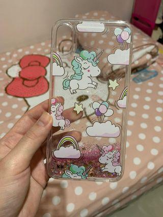 Case iPhone XS MAX - unicorn glitter anti bumper casing NEW