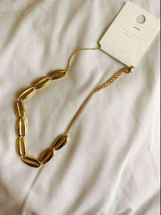 韓飾品 金屬貝殼短項鍊🐚