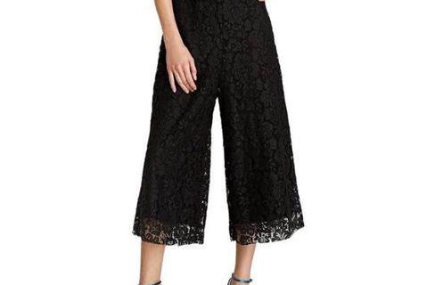 Zara lace cropped pants