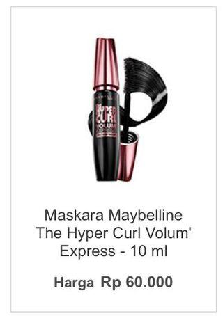 Maybelline mascara the hyper curl volume Express