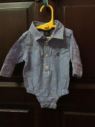 Baby Gap Shirt Romper 0-3m