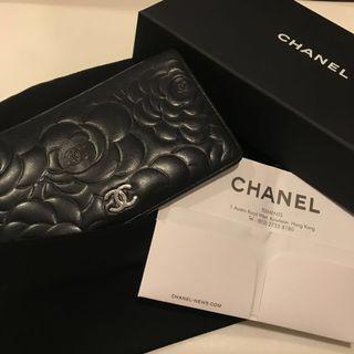 有單Chanel Wallet山茶花銀包