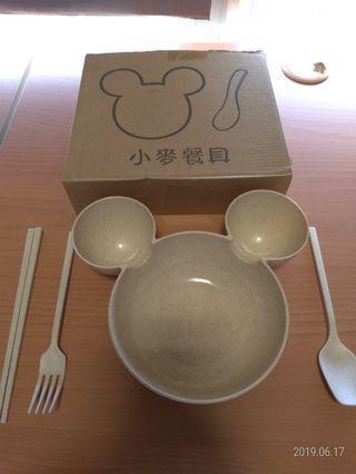 🚚 小麥餐具(餐盤+全套餐具)(共2套)