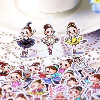 就愛芭蕾女孩(款式-01)一套40枚Line貼貼紙包手帳貼紙芭蕾女孩可愛學生送禮文具跳舞生日禮物手工實用老師舞蹈教室