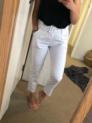 Stylish white pants