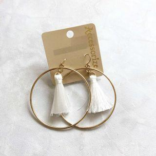 全新 Accessorize Tassel Earrings 流蘇耳環 圈圈耳環