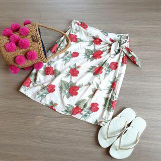 日本古著感 渡假系扶桑花裙