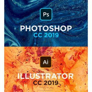 💥 Adobe Photoshop & Illustrator CC 2019 💥