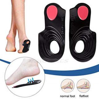 Arch Gel Black Insoles Shoe Support x 1 pair
