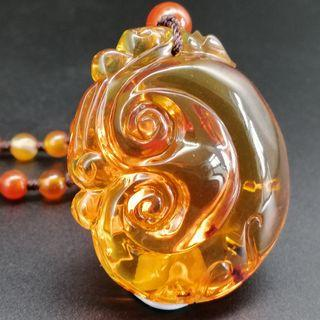 🚚 Burma red amber necklace, 如意净水茶珀