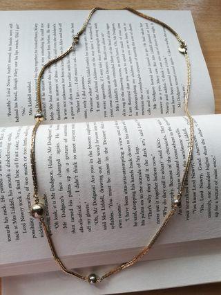 Vintage Avon USA Goldtone Ball Necklace