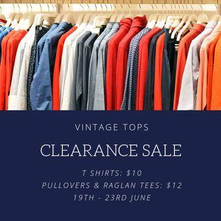 CLEARANCE SALE $10-$12 ONLY 19-23RD JUNE