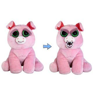 BRAND NEW Authentic Feisty Pets Animals Pig Suzie Swearjar Stuffed Soft Toy Angry Cute Face