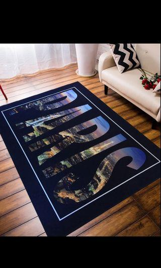 Floor Mat carpet Paris 50*80cm 120*60cm