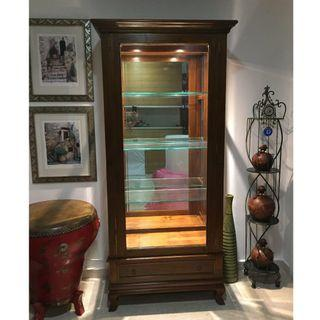 Display Cabinet -Teak Wood and Glass