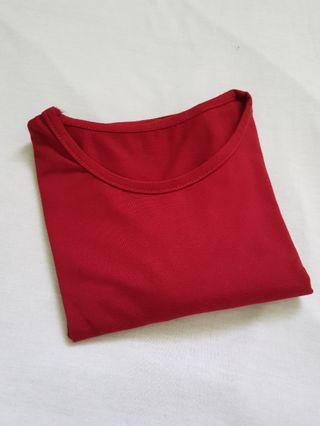 Crop Top Merah Panjang