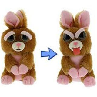 BRAND NEW Authentic Feisty Pets Animals Stick Out Tongue Rabbit Vicky Vicious Stuffed Soft Toy Angry Cute Face