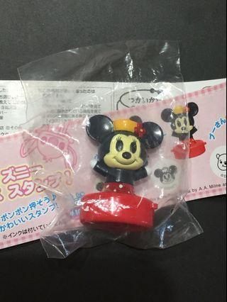 米妮印章 扭蛋 yujin 迪士尼扭蛋 Minnie 絕版 印章 公仔