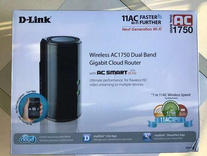 🚚 D-Link AC1750 Dual Band Gigabit Cloud Router