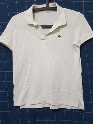 🚚 正版Lacoste 白色POLO衫