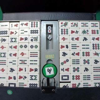 二手麻將特大加重豪華型麻將 東方賭盛大上海系列麻將(含消音桌墊)