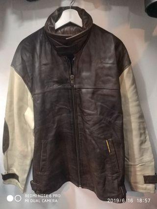 Brown genuine leather jacket
