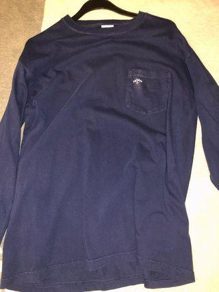 Noah Navy Blue Long Sleeve Shirt