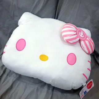 With Freebie! 45cm Original Japan Hello Kitty Mega Jumbo Cool Face Cushion Plush Toy A. pink