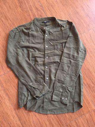 Uniqlo Olive Soft Twill Shirt
