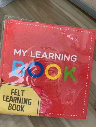 🚚 Felt Quiet Book My Learning Book