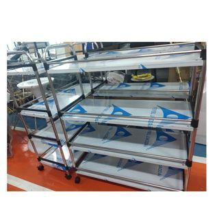 BRAND NEW metallic moveable racks