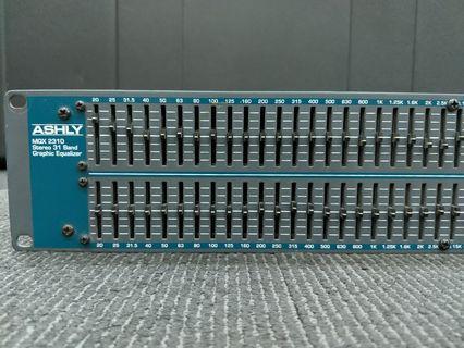 Ashly Audio MQX-2310 Dual 31-band Graphic EQ