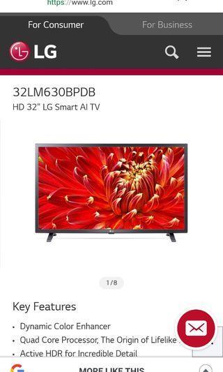 "New 2019 LG 32"" Smart AI TV"
