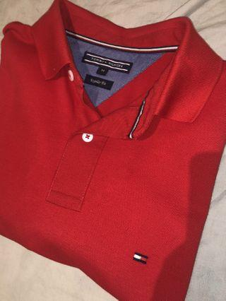 BNWOT Red Tommy Hilifiger Polo
