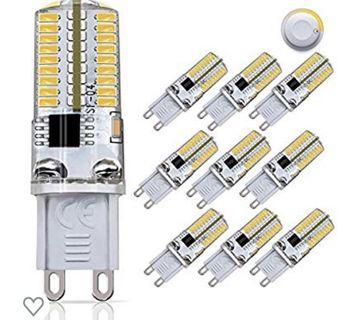 (3476) DiCUNO G9 Dimmable LED Bulb, 30 Watt Equivalent(3 Watt) Soft White 3000K,120V Corn Bulb, 10-Pack