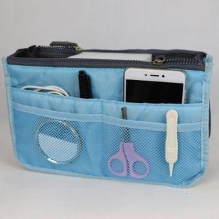Bag Insert Travel Sky Blue Handbag Organiser with Handles