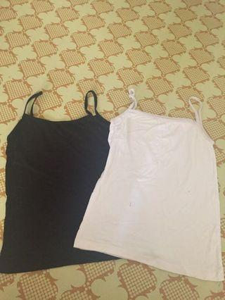 Singlet 2pcs black n white