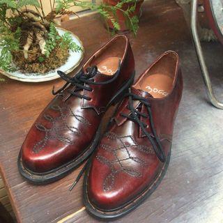 復古 雕花皮鞋 vintage 牛津鞋