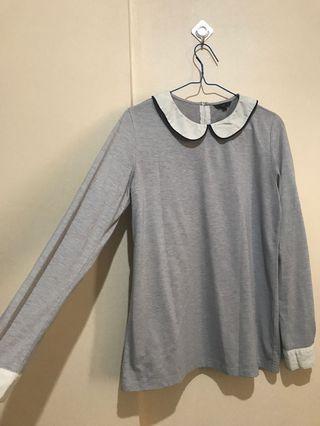 The Executive Grey Long Sleeve Top (Kaus Lengan Panjang)