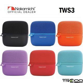 Nakamichi NM TWS3 MusicCube Wireless Bluetooth Portable Speaker with Microphone