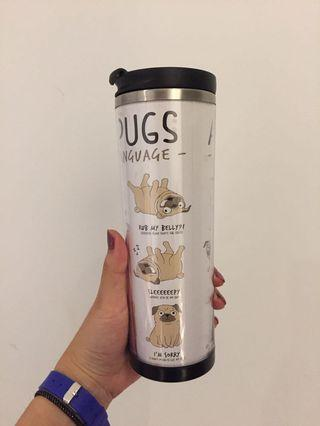 Cute thermos coffee tea holder