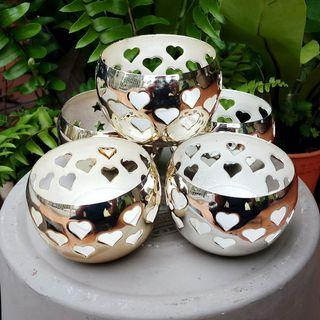 Metal Tealight/Candle Holder [Set of 5] (Round W7 H5 cm)