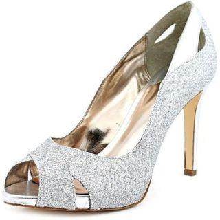 Alfani - Silver Peep Toe Stiletto Heels - Size 7