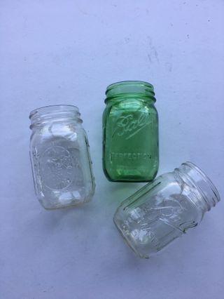 Ball Glass Mason Jar Set of 3
