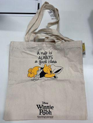 Winnie The Pooh Canvas Tote Bag